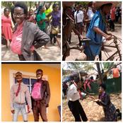 See the funny Outfit some students of Federal Polytechnic Oko wore today during their Old School day