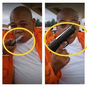 Frightening Video of South African Prisoner Holding A Gun & Knife Emerges On Social Media