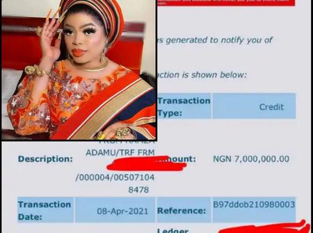 Check out reactions after Bobrisky shared his account details revealing the huge amount he received.