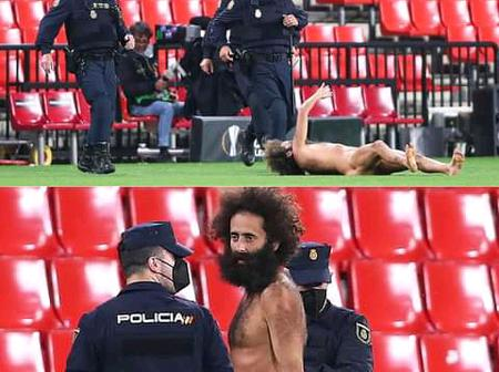 The Naked Fan Who Entered The Pitch During Manchester United Match Vs Granada Has Revealed This