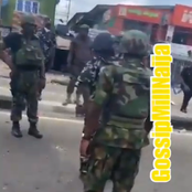 See What Air Force Officer Did To Police Men Shooting At Protesters That Got People Talking