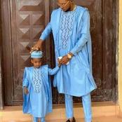 20 Most Adorable Asoebi Styles For Father And Son. Check Latest Fashion Trend You Can Choose From.