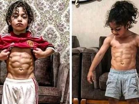 Meet The 6-Year-Old Iranian Boy That Has Six Packs (Photos)