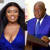 Trending- Popular media personality Bridget Otoo in 'trouble' after saying this to Nana Addo