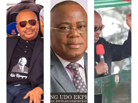 Governor Udom Goes Emotional At The Funeral Ceremony Of The Late PDP State Chairman.