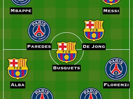 Barcelona and PSG Combined Xi For Each Position