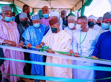 Despite the President absence, see how Prof Yemi Osibanjo graced an event in Jigawa today.