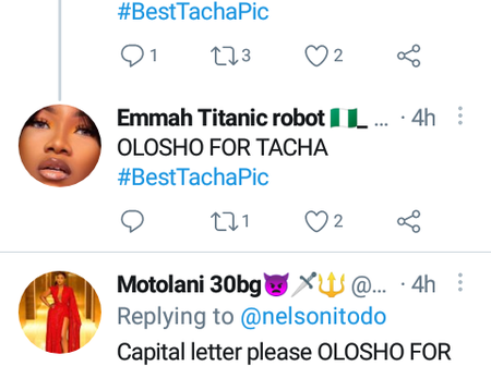 Titans (Tacha fans) Drag Nigeria Blogger Over A Comment On Twitter