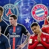 Bayern Munich leading PSG at the halftime break