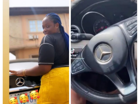 Upcoming Actress, Eva Shows Off Her New Mercedes Benz In Today's Video