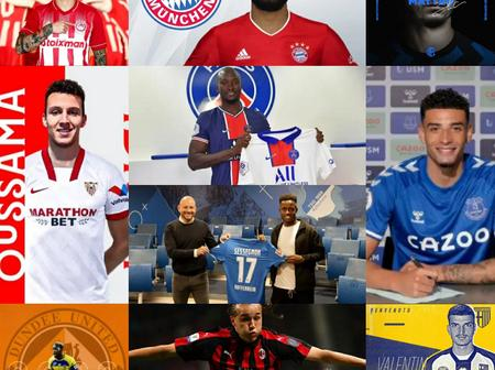 DEADLINE DAY: 100% Completed Done Deals As At 3pm, Check Out Whom Your Team Have Signed.