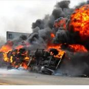 Sad News in Anambra state yesterday as welder died and others injured in a tanker explosion.