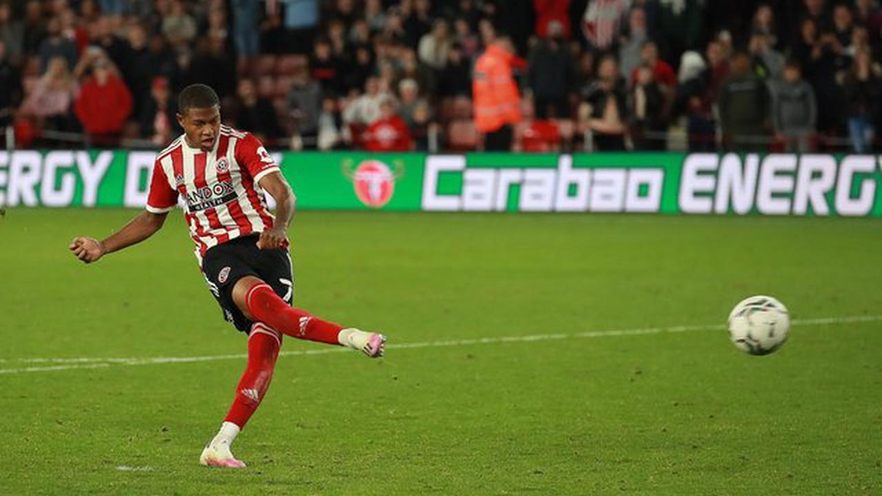 """Boss absolves Oli McBurnie and Rhian Brewster of blame for Sheffield United shootout defeat on """"lottery"""" of penalties"""