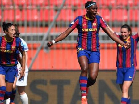 UEFA: Oshoala's Goal Helps Barcelona Beat Man City To Take A Step Into The UWCL Semi Final Stage