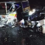 Head On Collision Tragic Road Accident Involving A PSV Nissan And A Saloon Car Reported