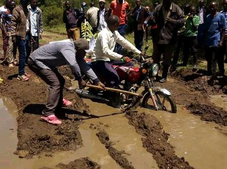 (Video)Controversial Rift Valley MP in Trouble as Electorates Demonstrate Over Bad Roads