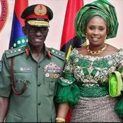 The Newly Decorated Chief Of Defence Staff, See More Photos Of His Beautiful Wife, Vickie Irabor