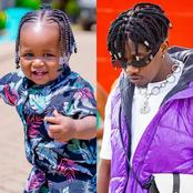 Majesty Bahati causes Stir online after copying Rayvanny's Look. See photos