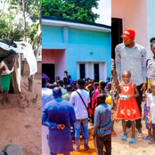 Joy Flows In Anambra Community As Man Donates 2-Bedroom Bungalow To Widow Living In A Hut (Photos)