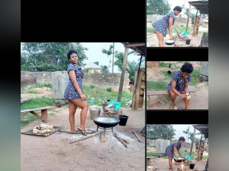 'I have been into business of selling yam, Akara, and potatoes' - Naturally endowed Lady says