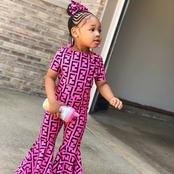 Checkout these adorable photos of fashionable pink ankara outfits suitable for your baby girls.