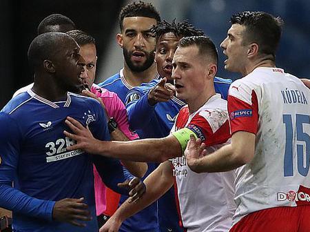 Football Fans Call On Arsenal To Avenge Glen Kamara Racial Abuse From Slavia Prague's Defender.