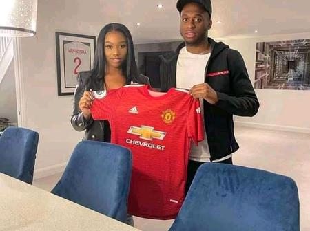 Fans react after Wan Bissaka was seen with a Ghanaian lady.