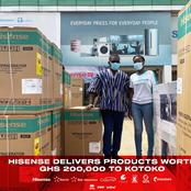 Asante Kotoko takes delivery of Hisense Sponsorship items worth over GHS200,000.