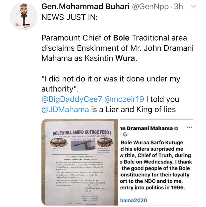 6a9448b32543e8e3f733953437edf748?quality=uhq&resize=720 - See some reactions of Ghanaians after Bole Chief exposed his own son, John Mahama