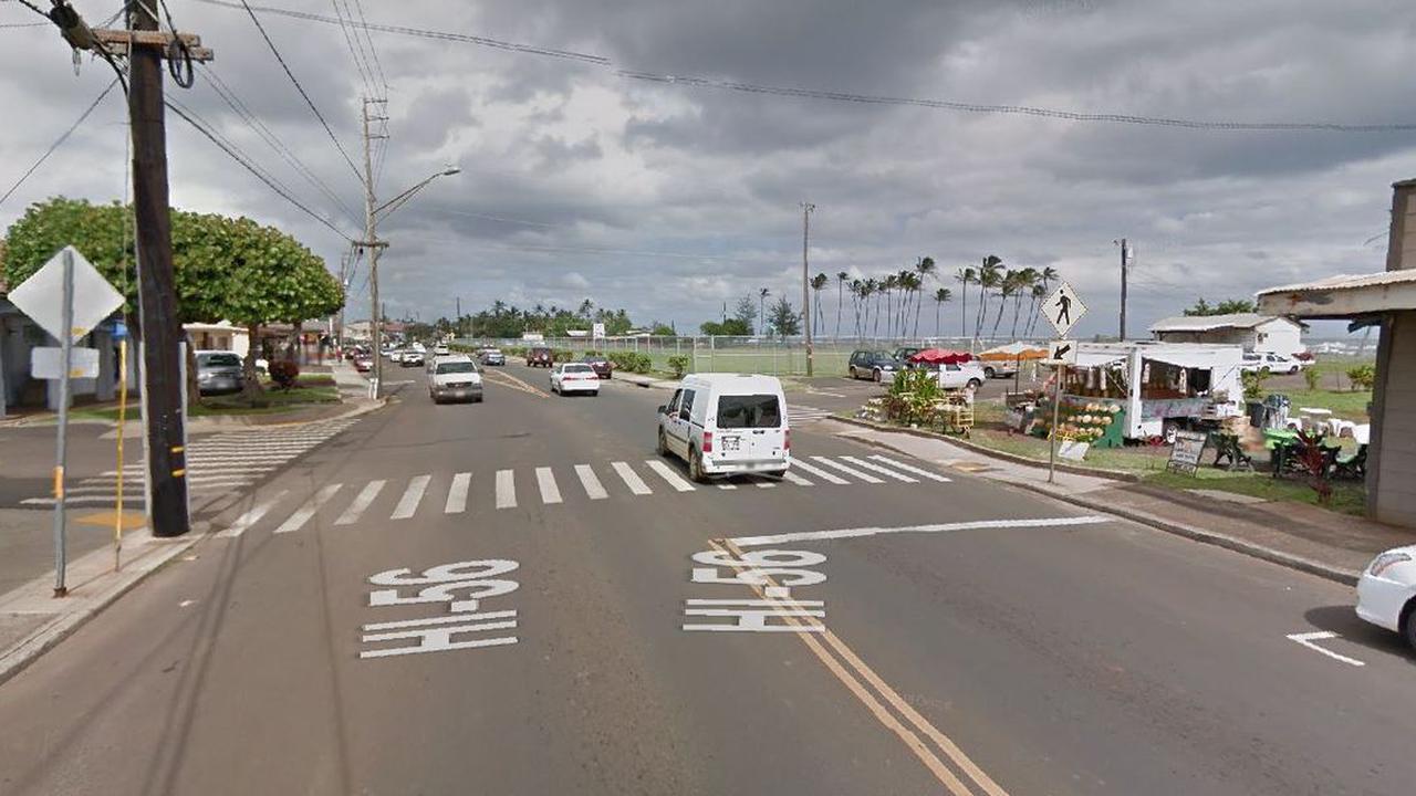Pedestrian, 69, critically injured after struck in Kauai crosswalk