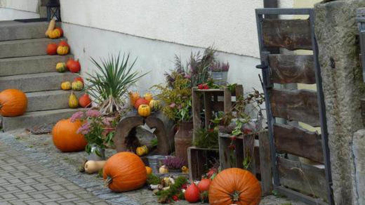 Herbstlicher Eingang eine Augenweide