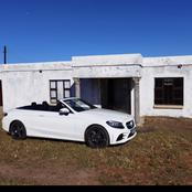 A man driving an expensive car but living in a small house has left Mzansi speechless