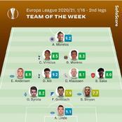 UEFA Europa Team Of The Week - Round Of 32 (2nd Legs)