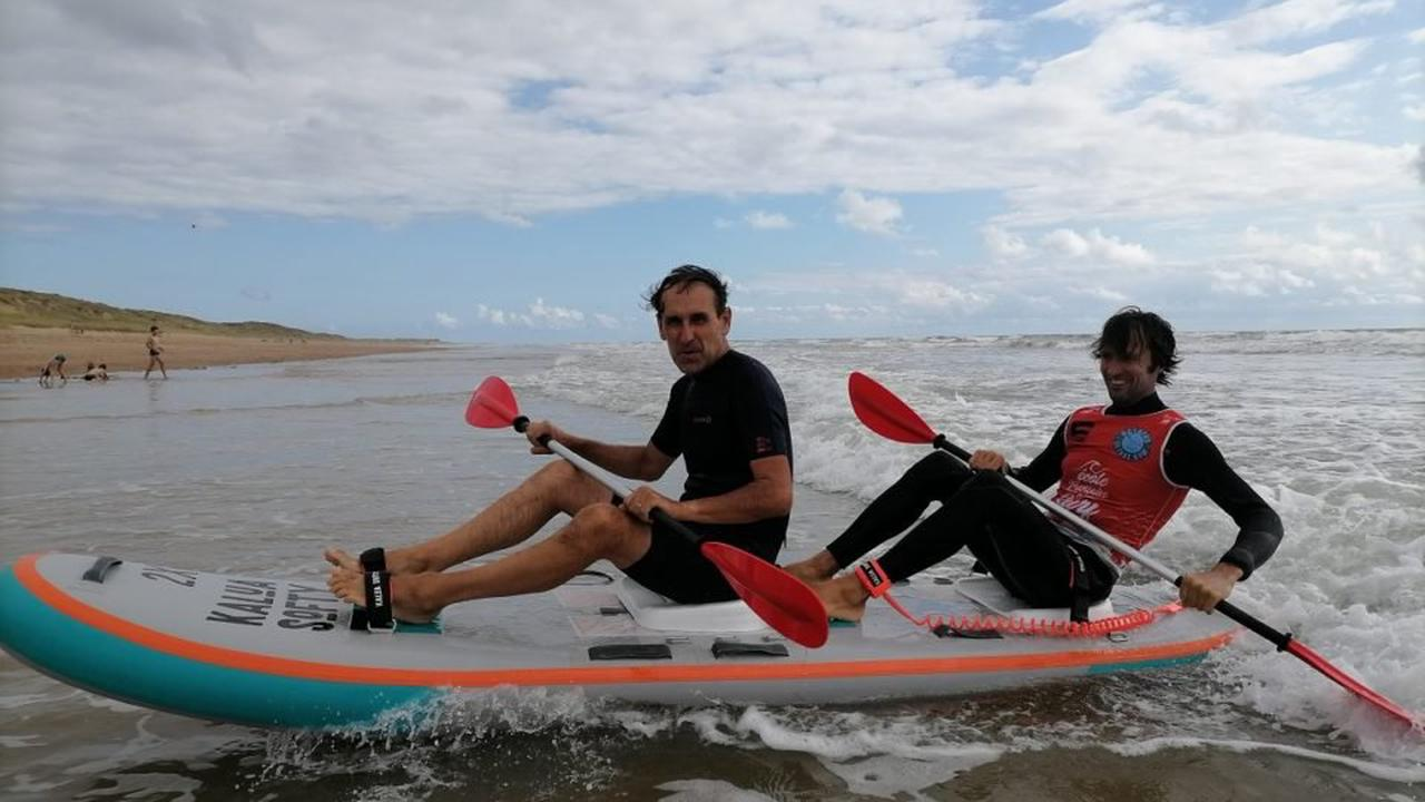 Les Sables-d'Olonne : J'ai testé pour vous le waveski avec un champion du monde !