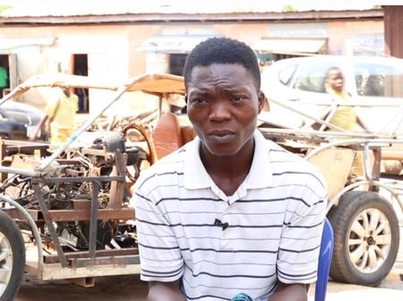 See Pictures As Nigerian Graduate Builds Car, Says He Wants Nigeria To Become Exporter of Cars