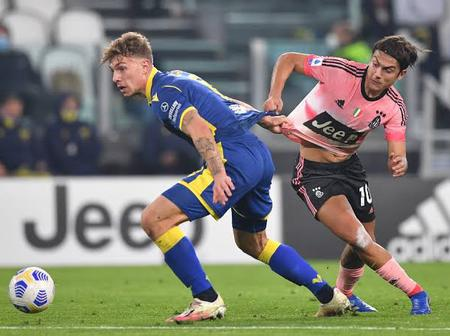 Ronaldo's absence being felt in the team as Juventus just concluded with a 1-1 draw with Verona.