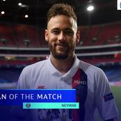 Neymar Won The Man Of The Match Award But Look At Him Giving The Award To Another Person.