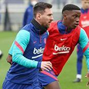 Barca players undergo final training session ahead of tonight's match(See photos)