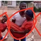 Man Seen Carrying His Mother [Photos]