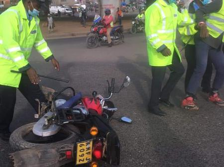 Chaos At Githurai 45 After Bodaboda Riders Protest Agaist The Police Over Excessive Force.