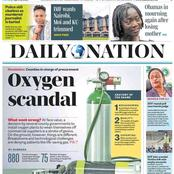 Today's newspaper headlines: Oxygen Scandal, Government Intervenes To curb Oil Price From Going Up
