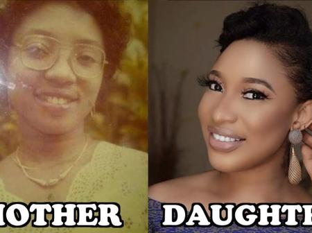 Nigerian Celebrities Who Look Like Their Mothers Click