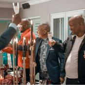 Unexpected visitor joins in on Julius Malema's birthday party but many are in disbelief.