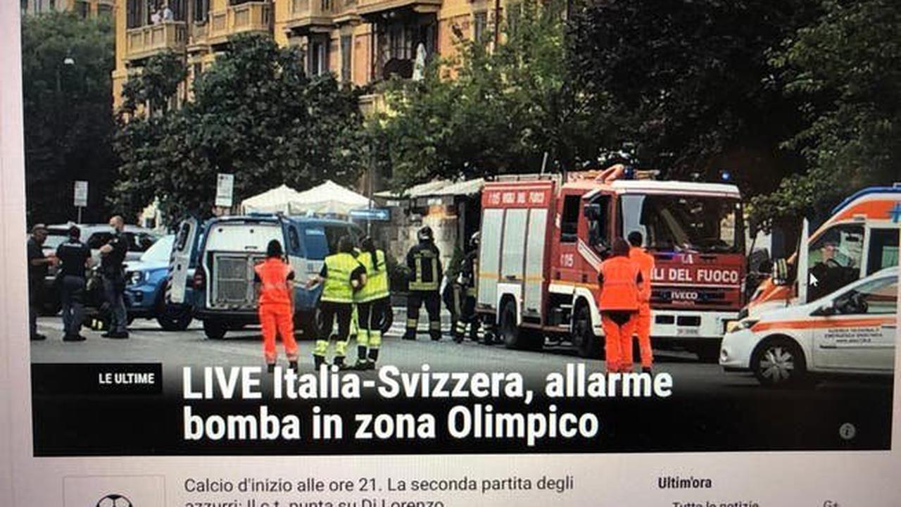 Bombenalarm, EM-Spiel, Schweiz-Italien, Rom