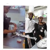 Reactions As Chioma Rowland Is Spotted In A Video Attending Baking Classes