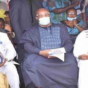 Akpabio's controversial act at Nsikak Eduok funeral