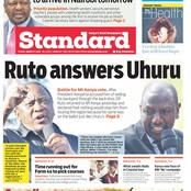 Newspaper Review: Teachers May Receive New Allowance, Exam Crisis Over lost Kids, Ruto Answers Uhuru