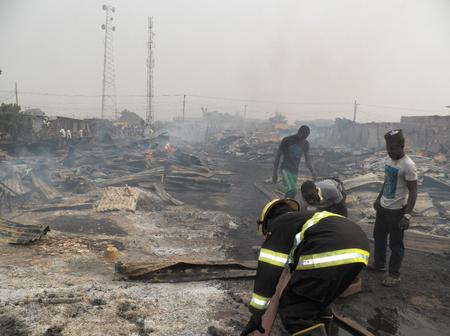 PICS: Two weeks after inferno, fire again razes Oko Baba Sawmill, destroys properties worth millions