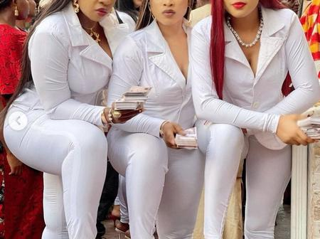 Anita Joseph Stuns In All White Outfit With Her Friends, Checkout Their Shoes