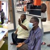 Two elderly men who went on a stealing mission at phone shops finally gets caught (Photos / Video)